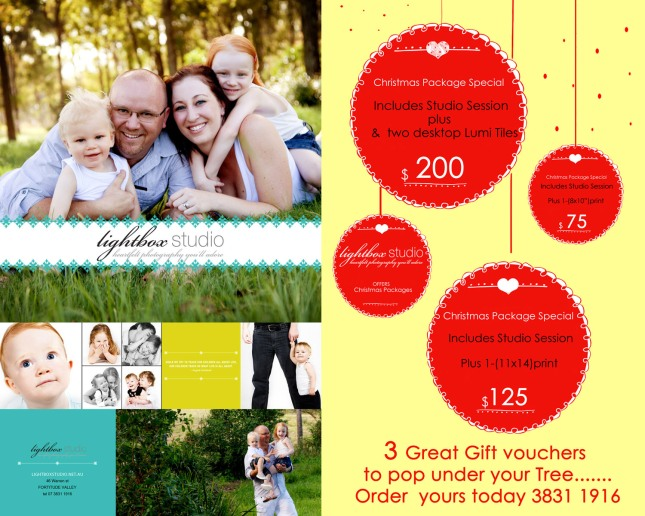 Lightbox studio Christmas Voucher 2012